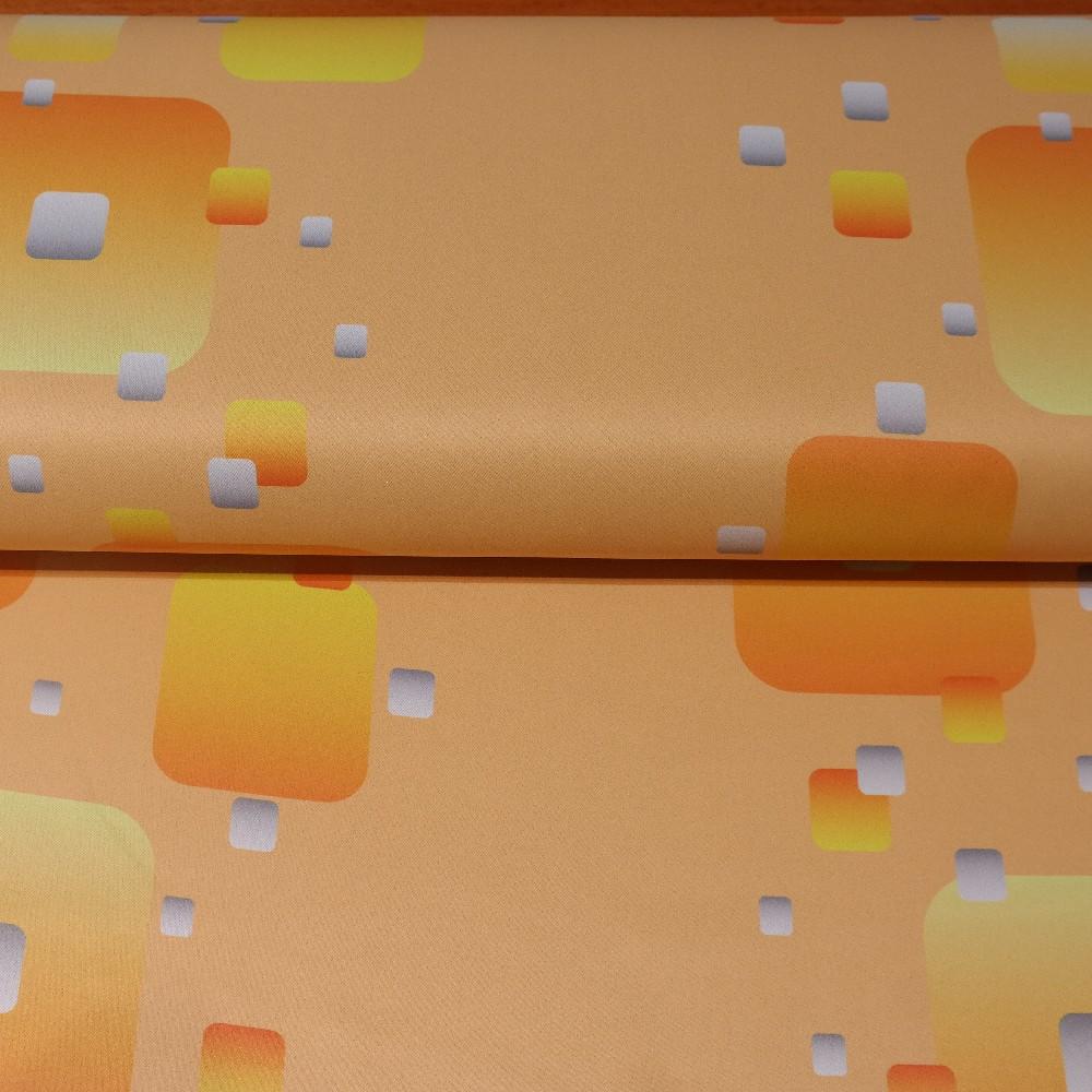 dekoračka blac out 10011/01/150 oran.žlu.mod.ab.vzor