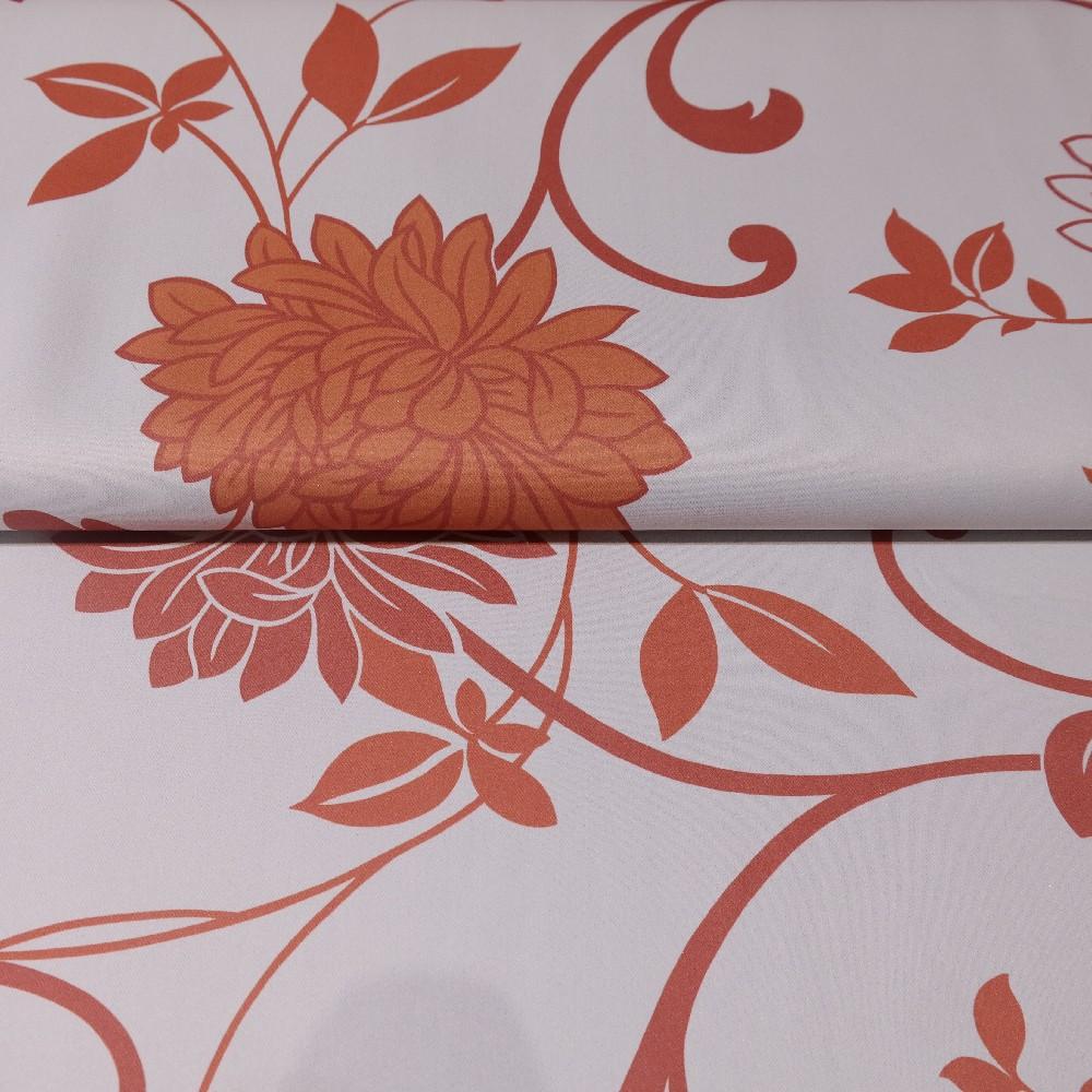 dekoračka blac out oran.bílé květy