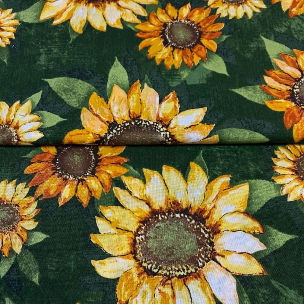 bavlna žluté slunečnice 110cm