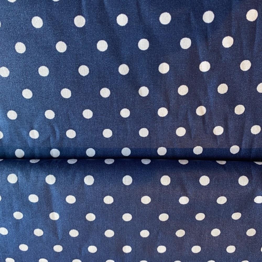 bavlna modrá bílá puntík
