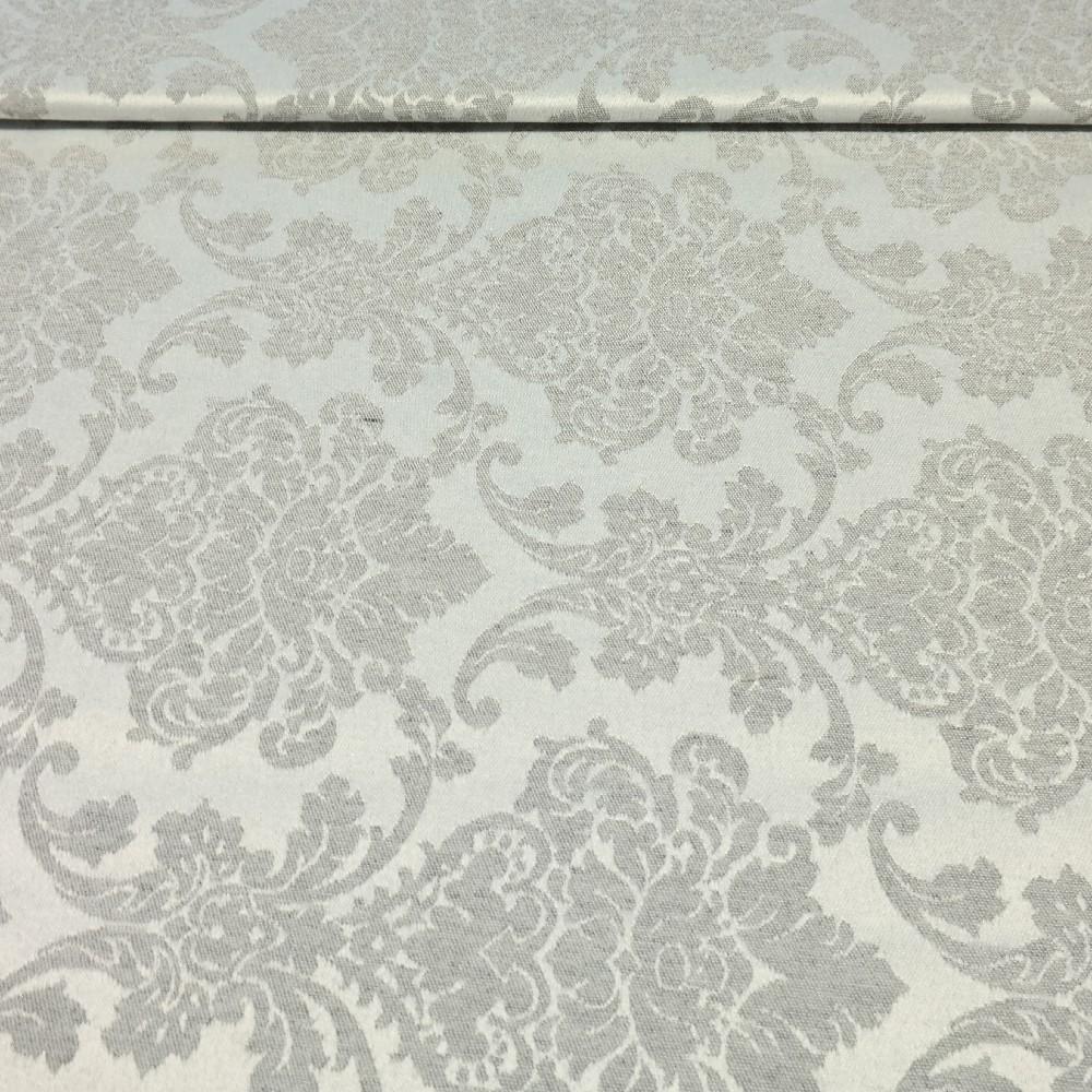 loneta bílo-šedá, zámecký vzor š.140