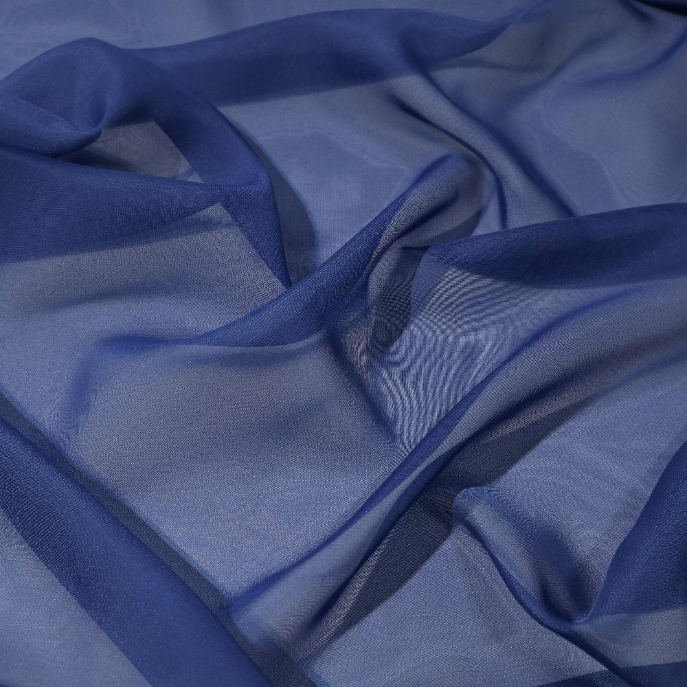 záclona voál modrý š.150