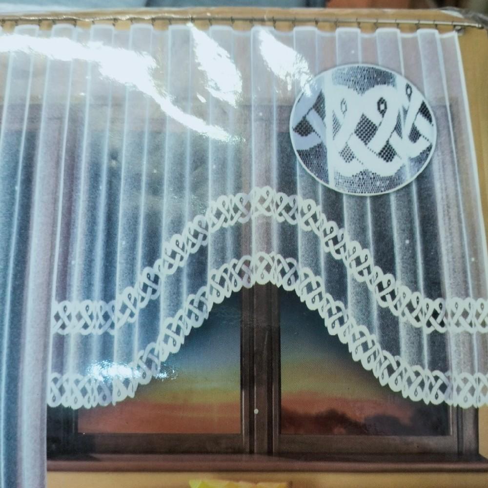 záclona voál modrý š.150 AL