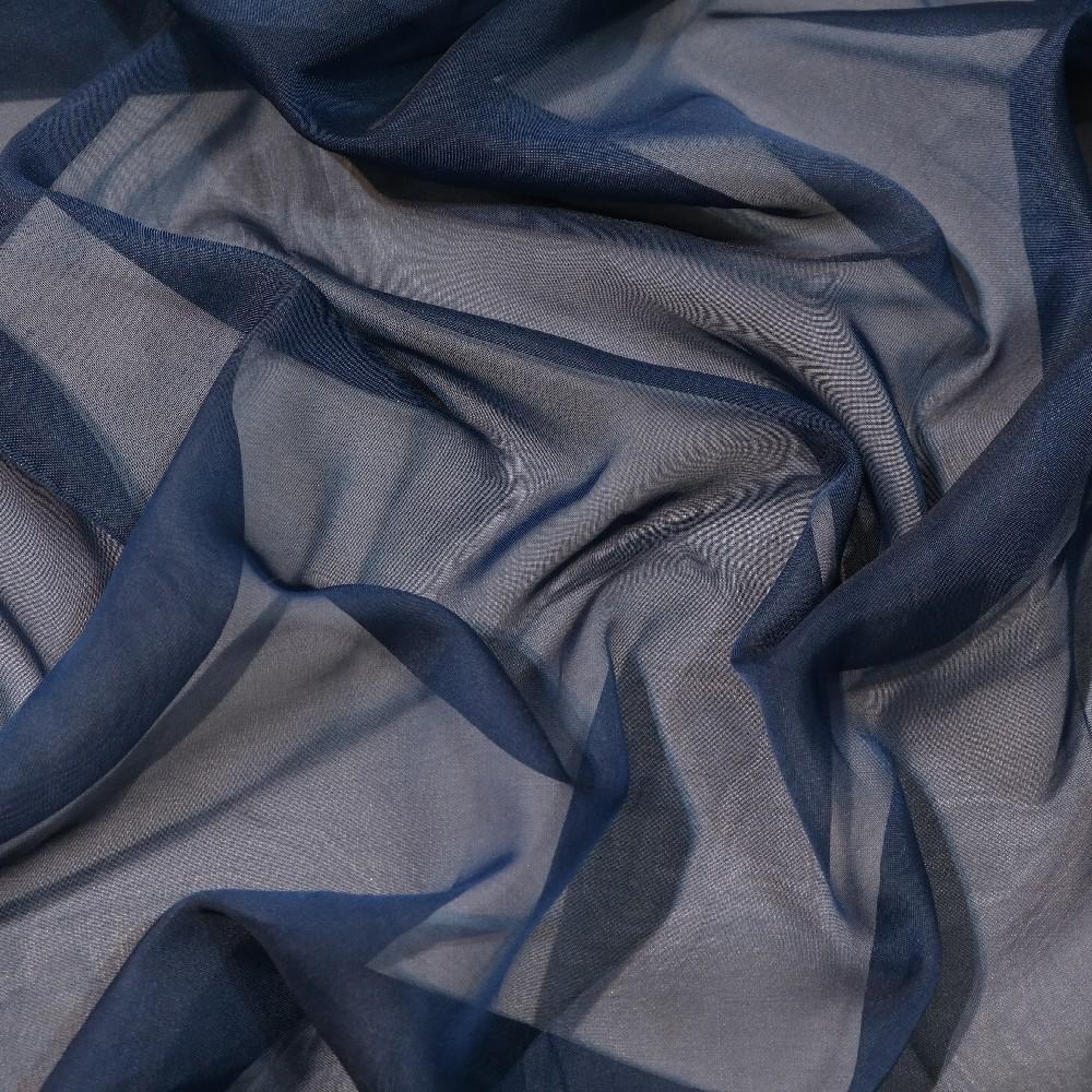 záclona voál tmavě modrý š.300 messe