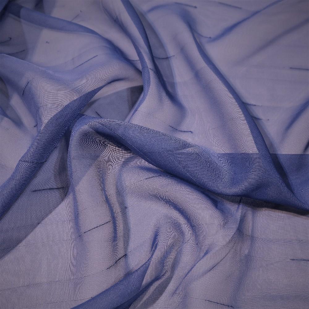 záclona voál tmavě modrý, čárky š.150 S