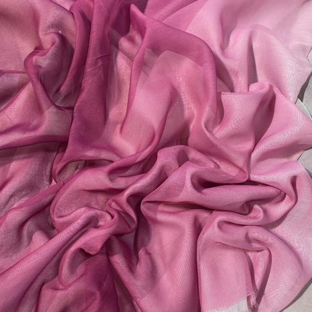 záclona voál bílo-fialová duha š.300 Vita