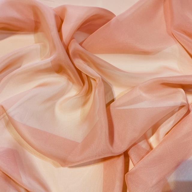 záclona voál tělově růžový š.150 M
