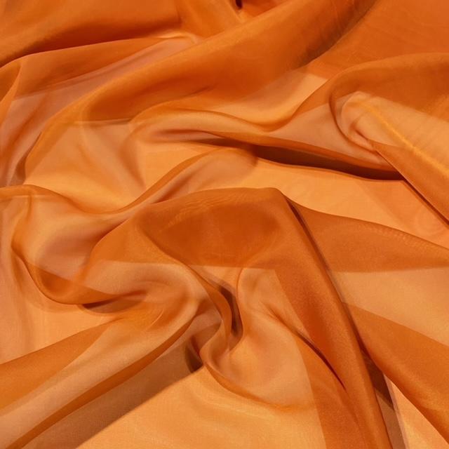 záclona voál oranžový š.150 A