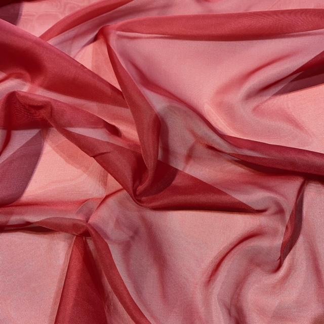 záclona voál červený š.150cm
