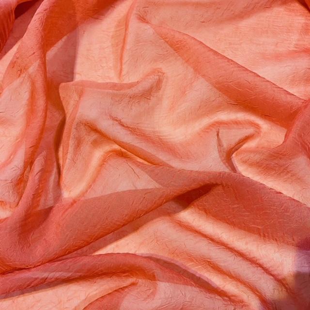 záclona voál lososový š.270cm