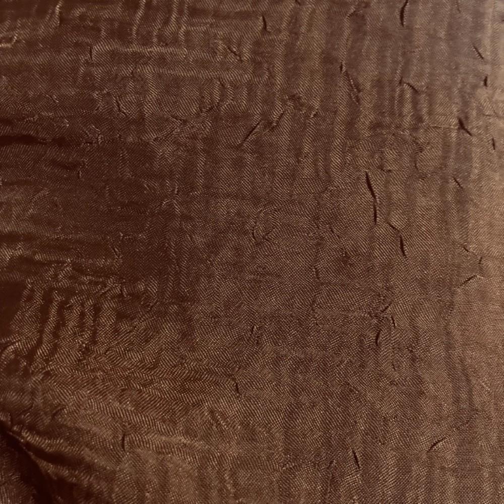 záclona voál kreš hnědý tmavě