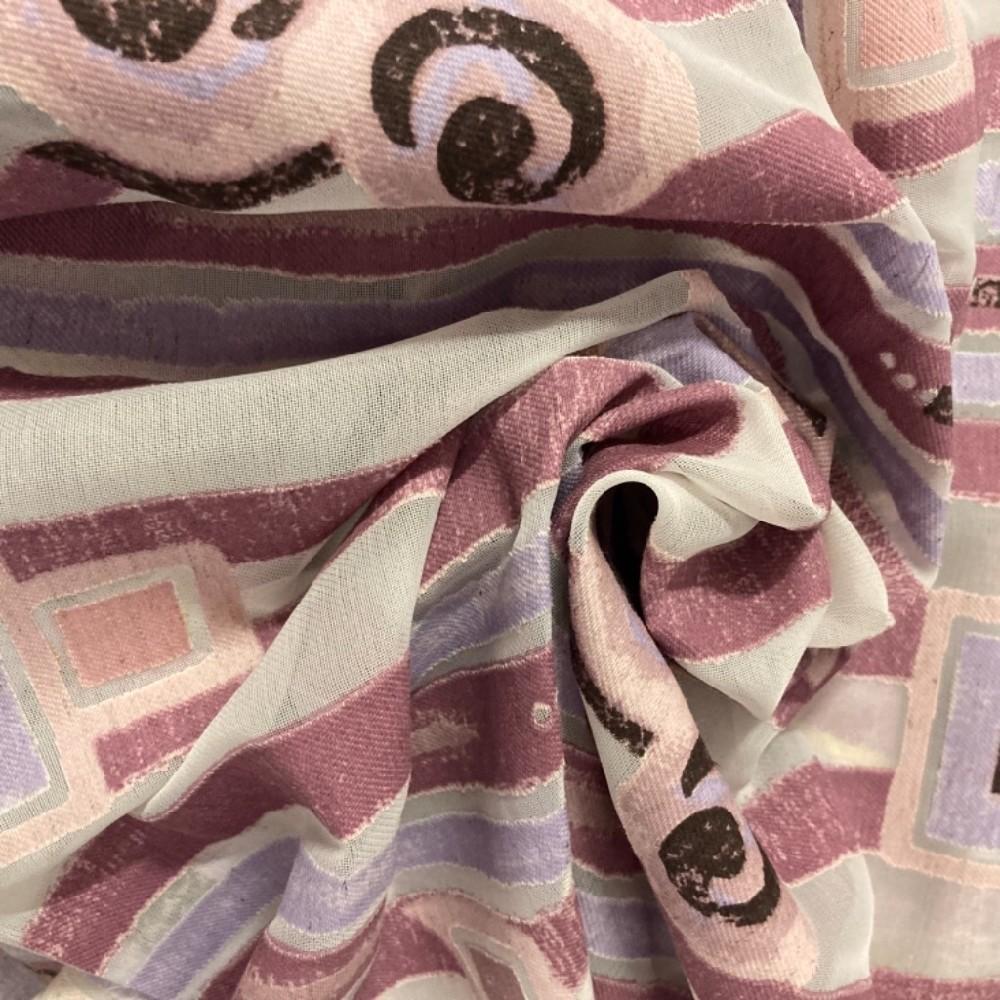 záclona taffet š140 fialové pruhy