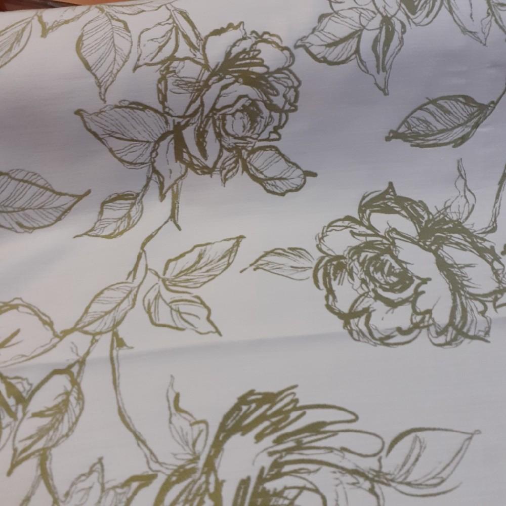 dekoračka  Ho 5345273273/140/47 zel.krém.květy