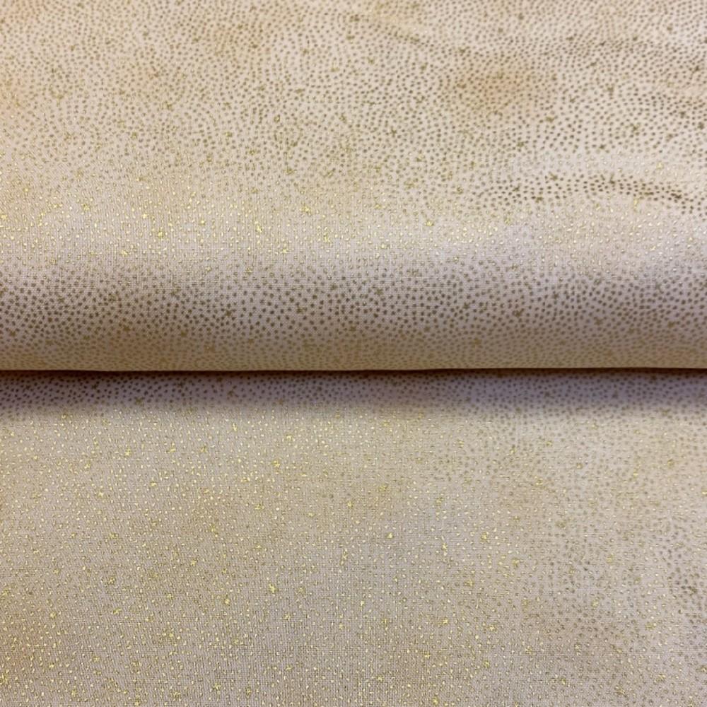 bavlna vánoční zlatá puntíček 110 cm