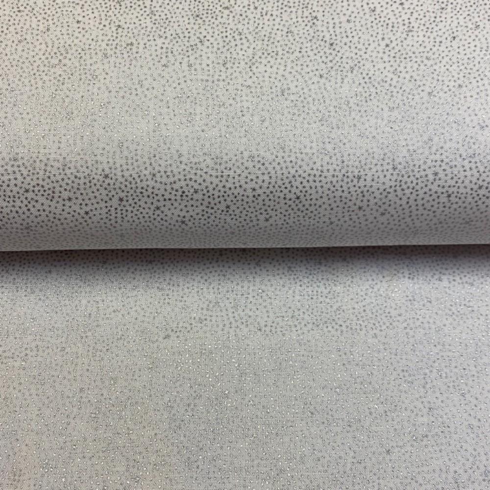bavlna vánoční stříbrná 110 cm puntík