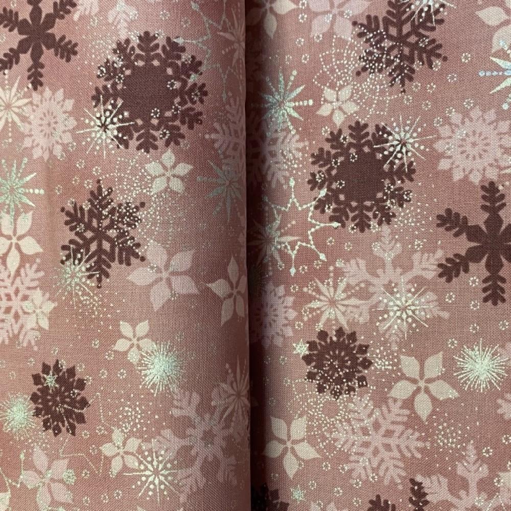 bavlna vánoční růžové hvězdičky 110 cm