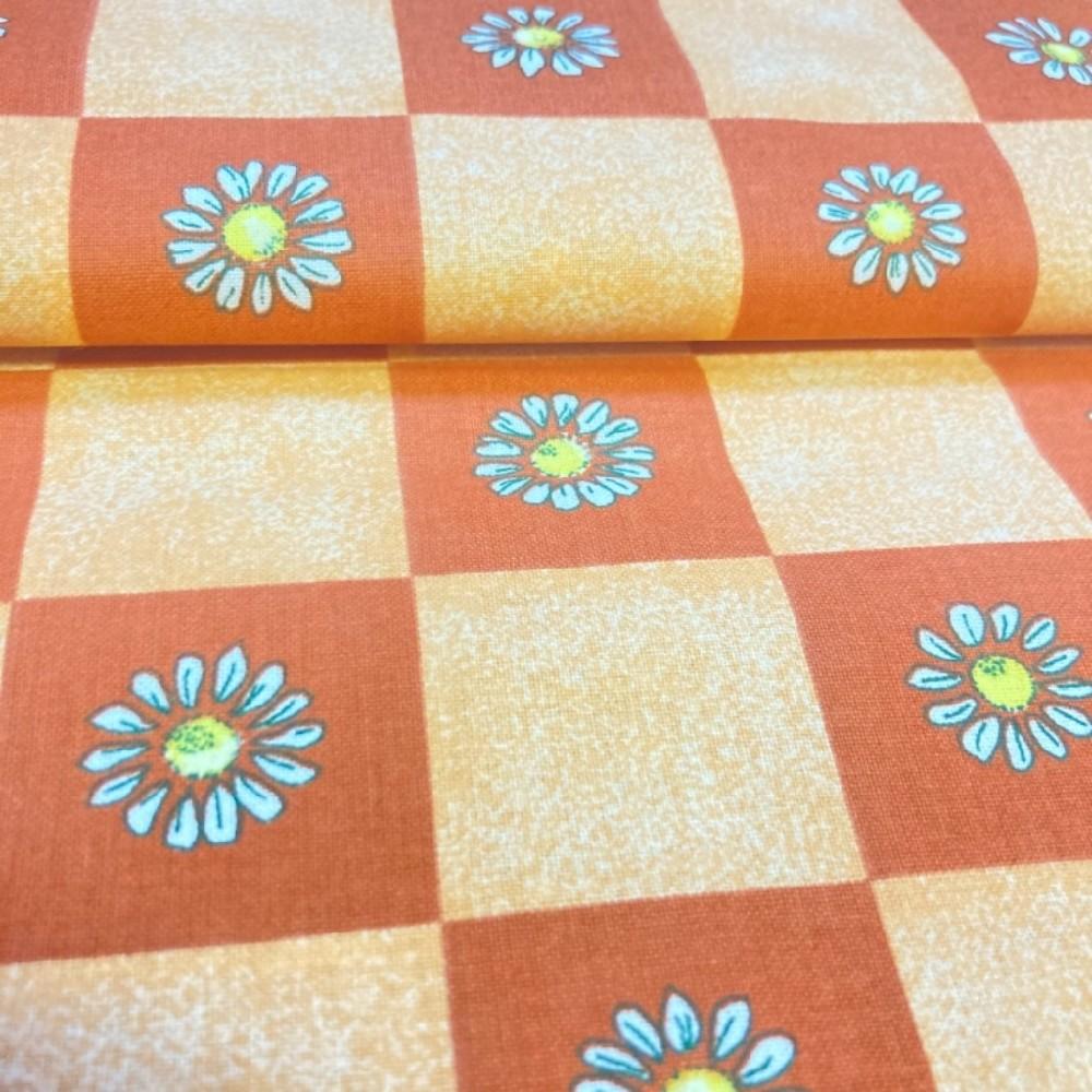 bavlna kostka květy