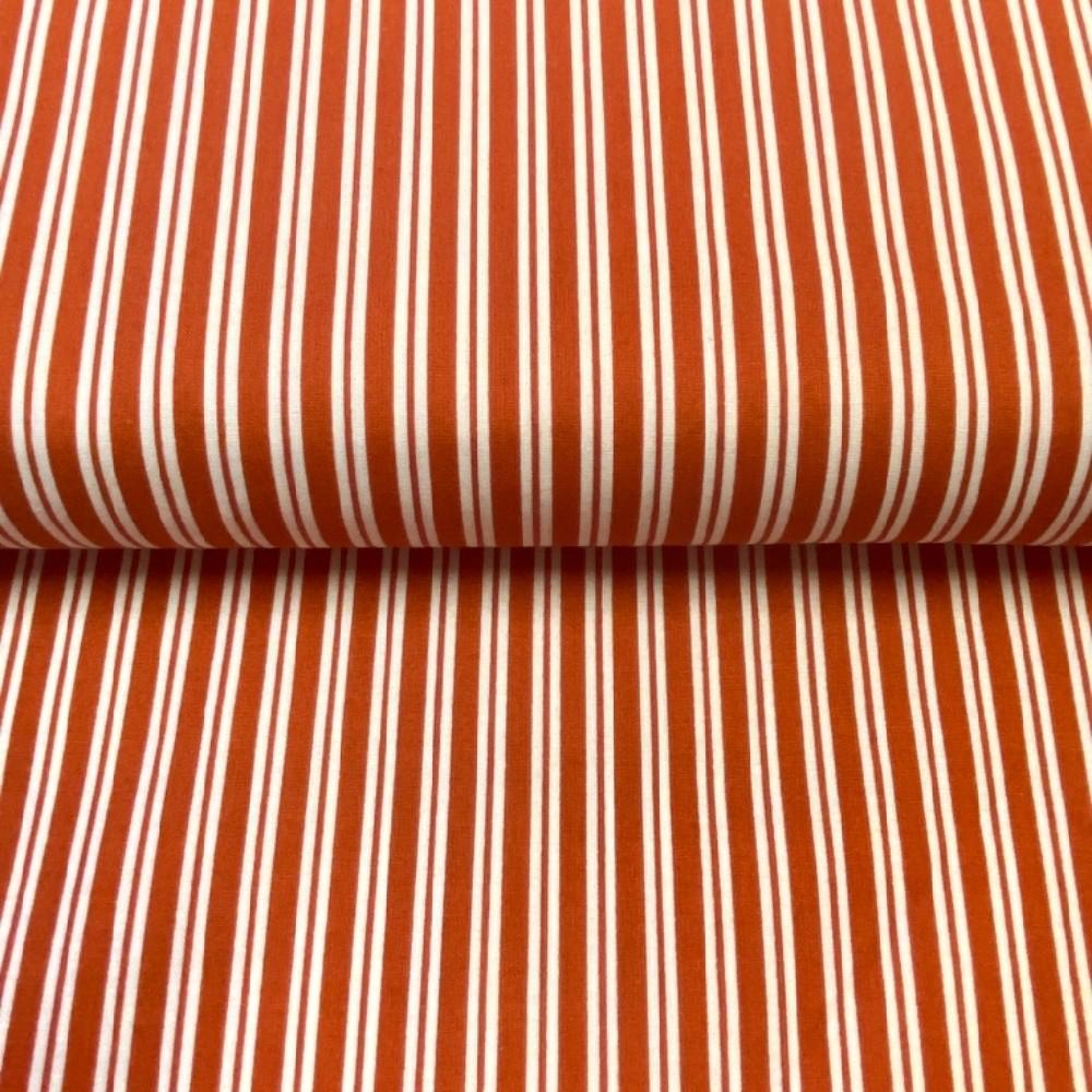 bavlna bílo-oranž proužek