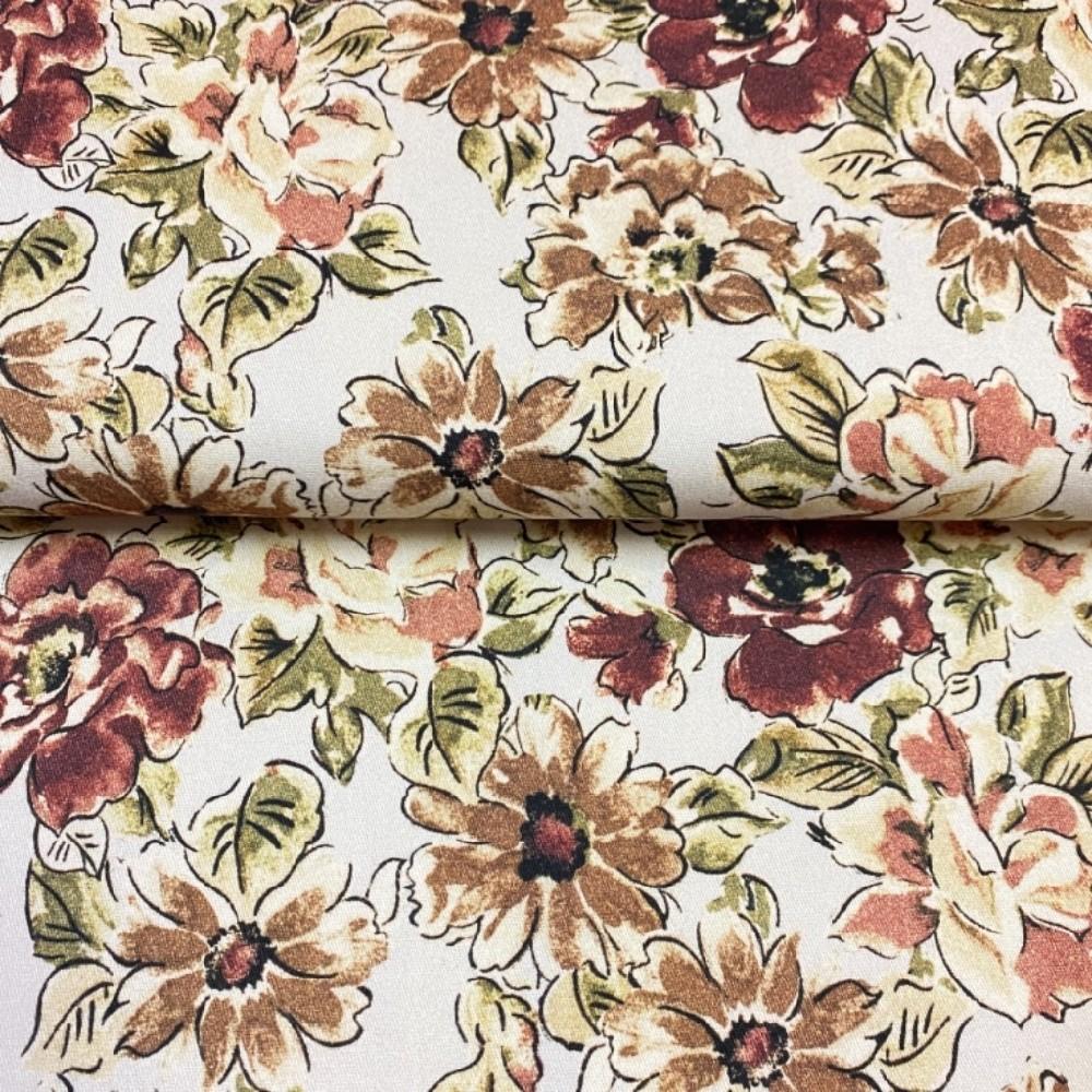 bavlna s elastanem květy150cm