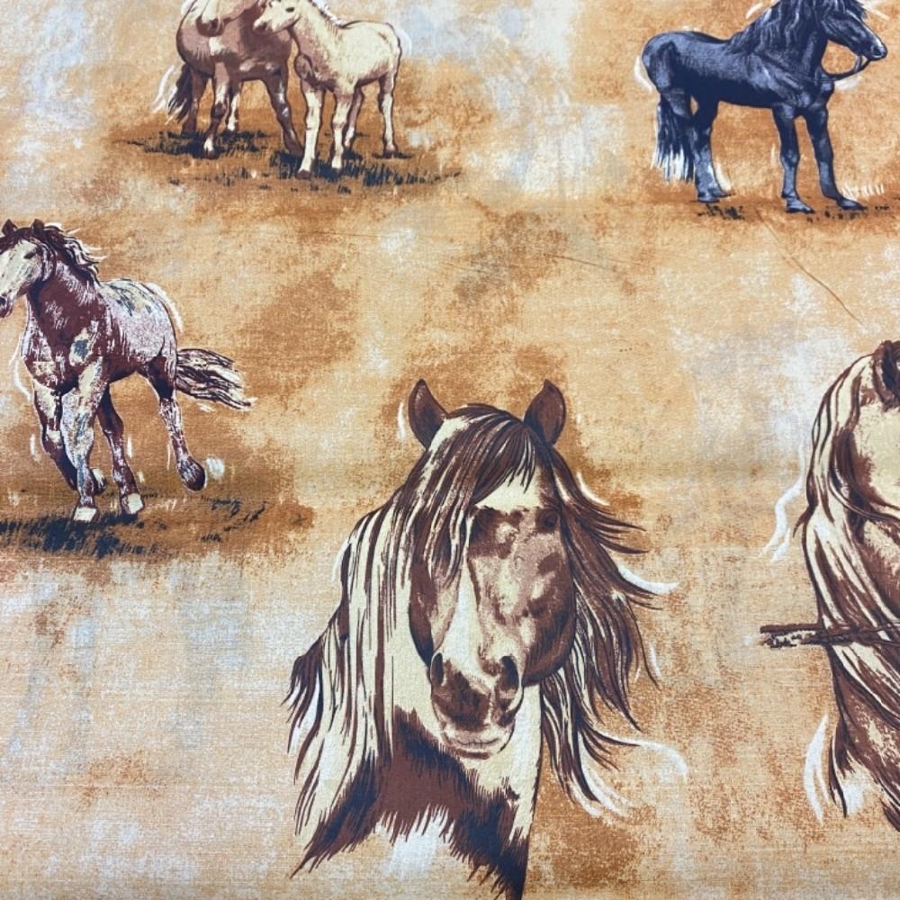 bavlna koně 145cm
