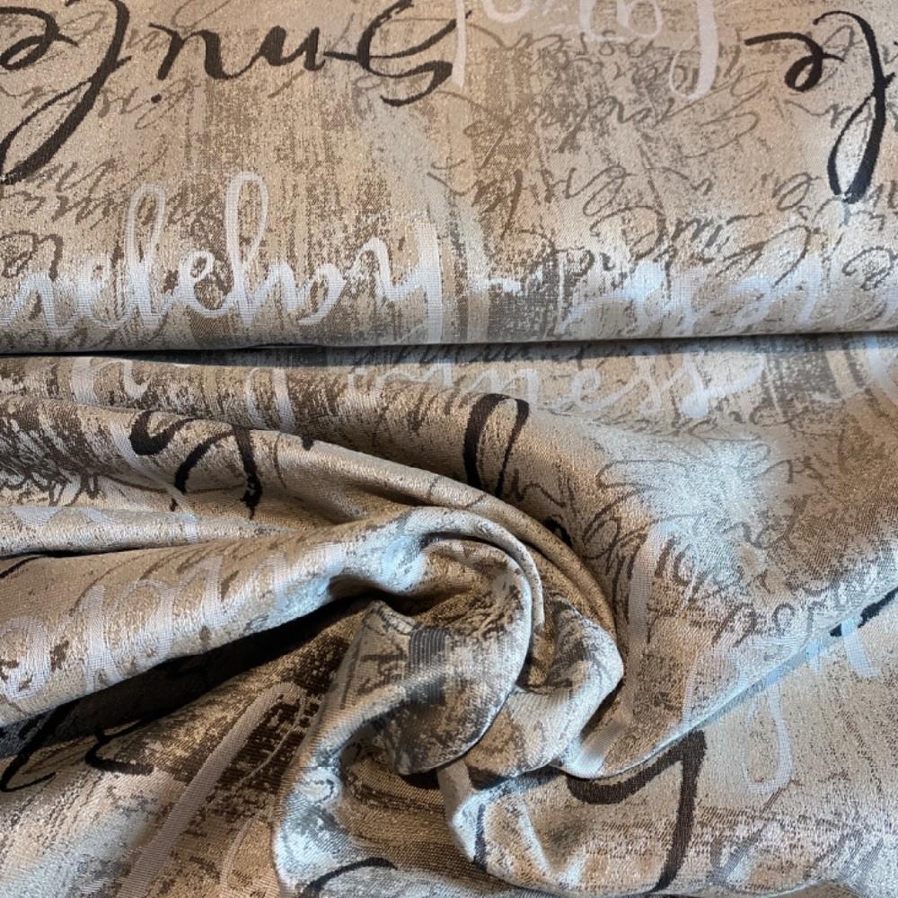 dekoračka  mocca krém/hnědé písmo154cm pes