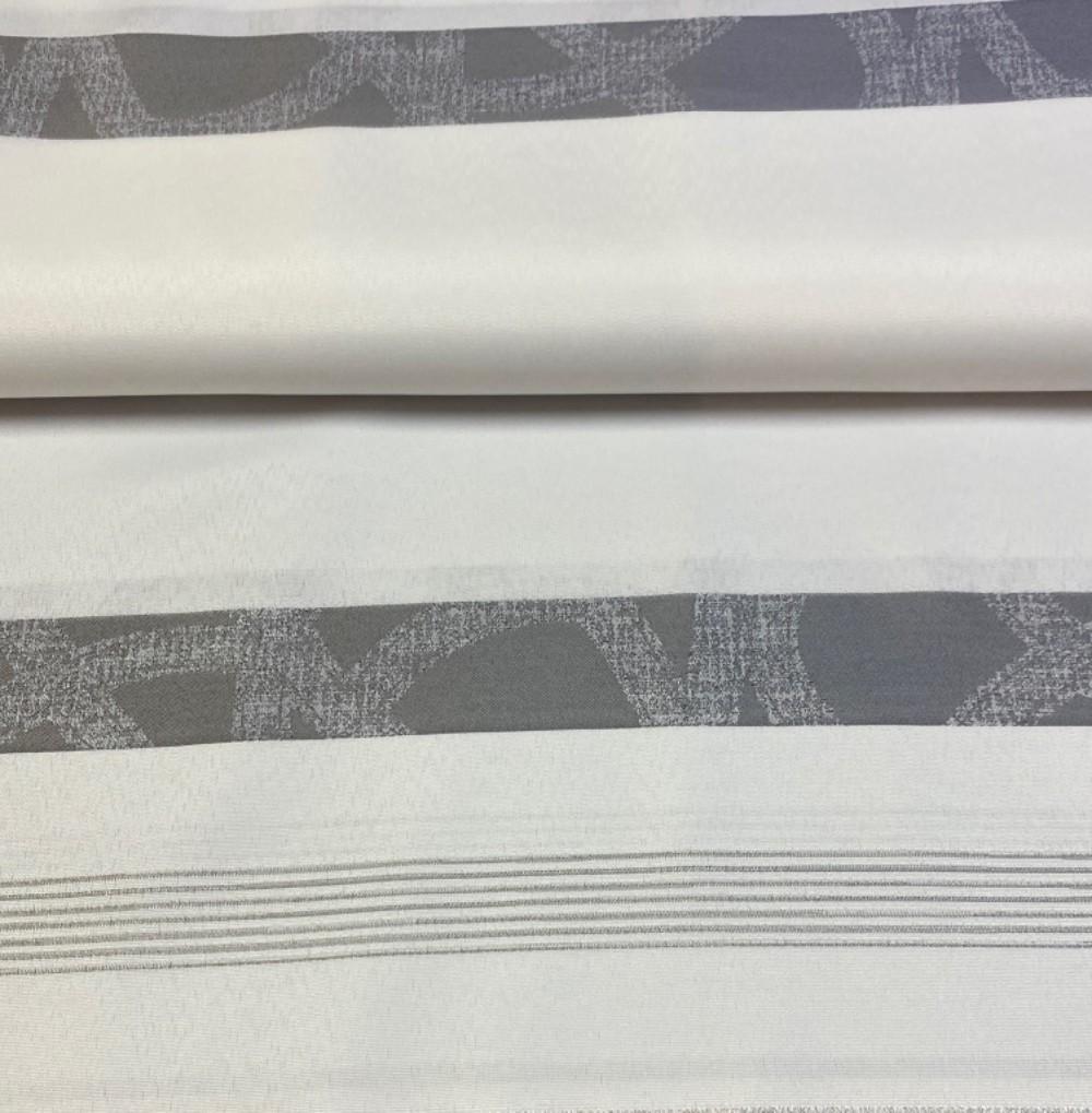 dekoračka  bílá šed/bílé pruhy154cm pes