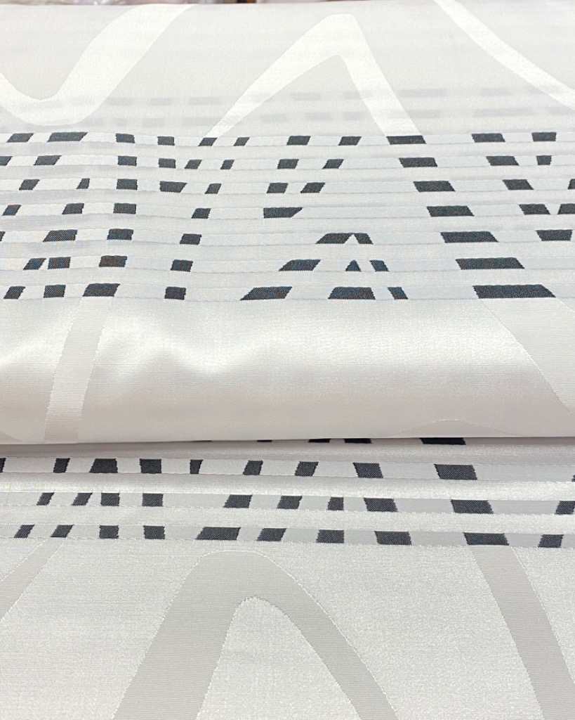 dekoračka čern.bílé abstra.pruhy 150/1051/79 pes