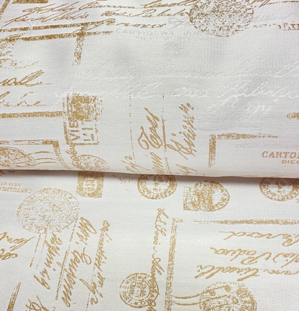 delkoračka krémové zlato/béžové písmo 150 cm pes