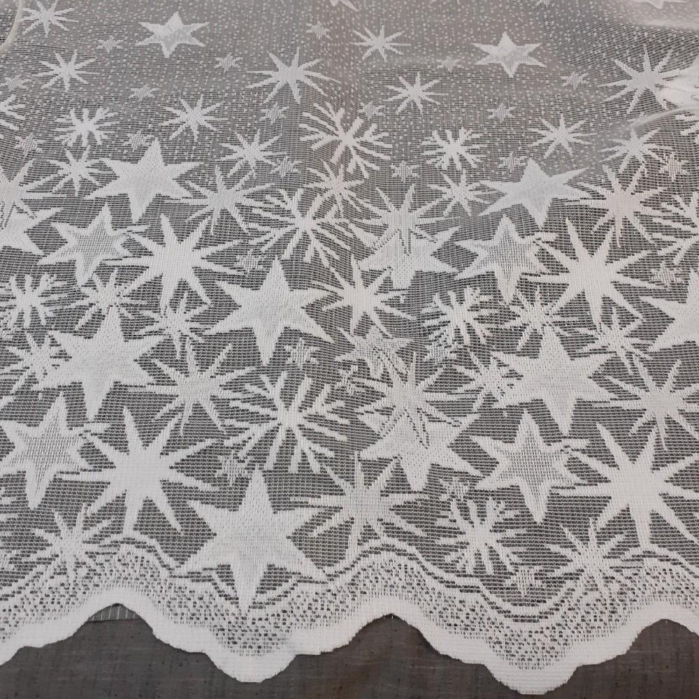 záclona Ol vánoční hvězdičky 0,9