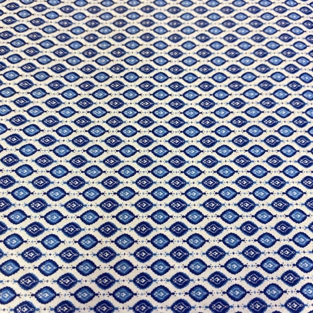 košilovina bílo modrý vzor140 cm