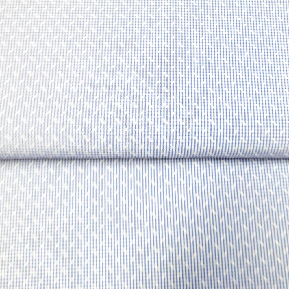 košilovina modro bílá 140cm