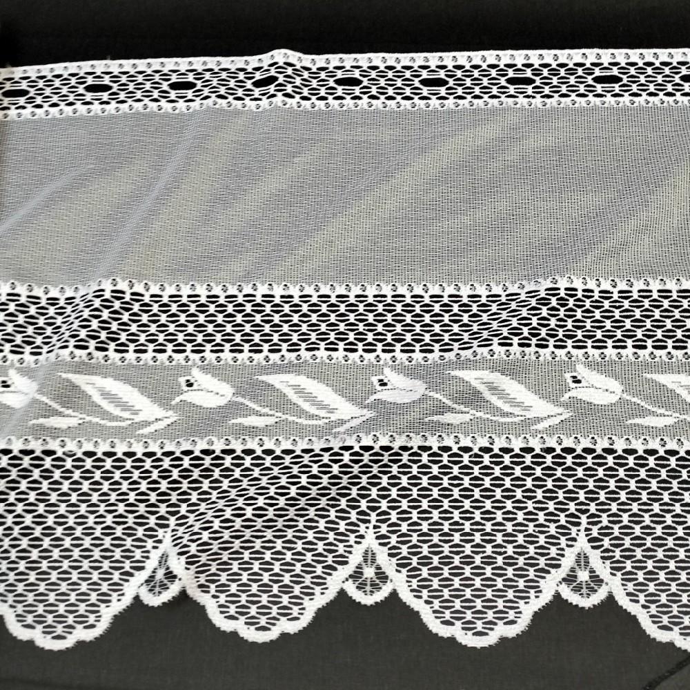 bavlna bílé kytičky na žlutém podkladě 140 cm