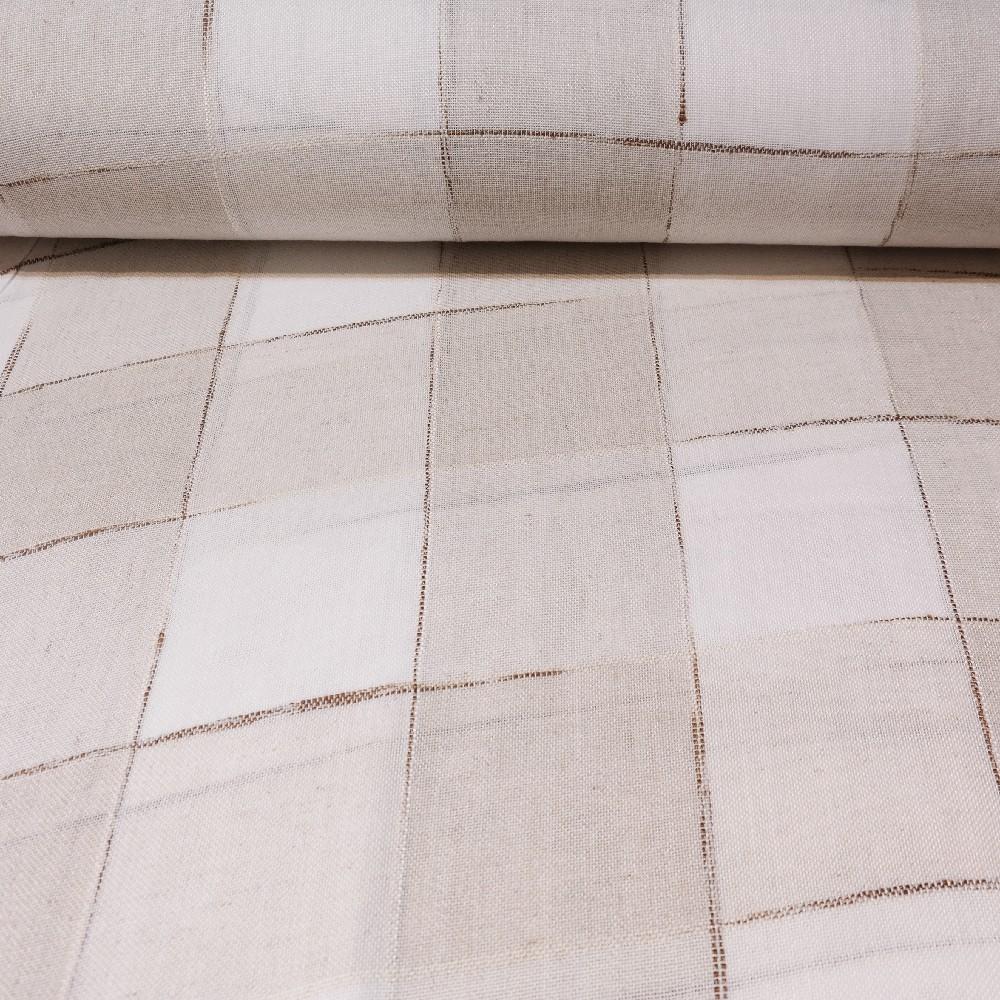 záclona Ra natur béž.kostka  v.280cm