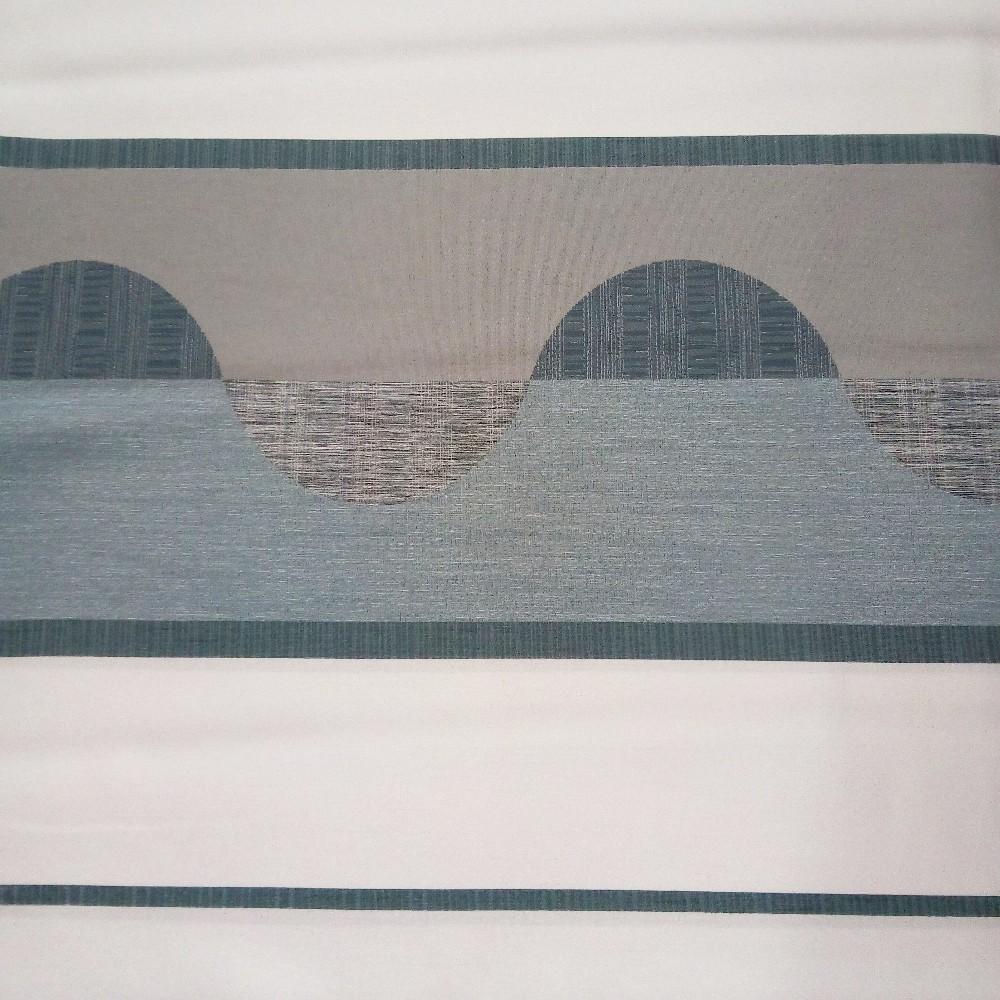 dekoračka Un 6542 smetanovošedopetrolejový  vzor š.140cm