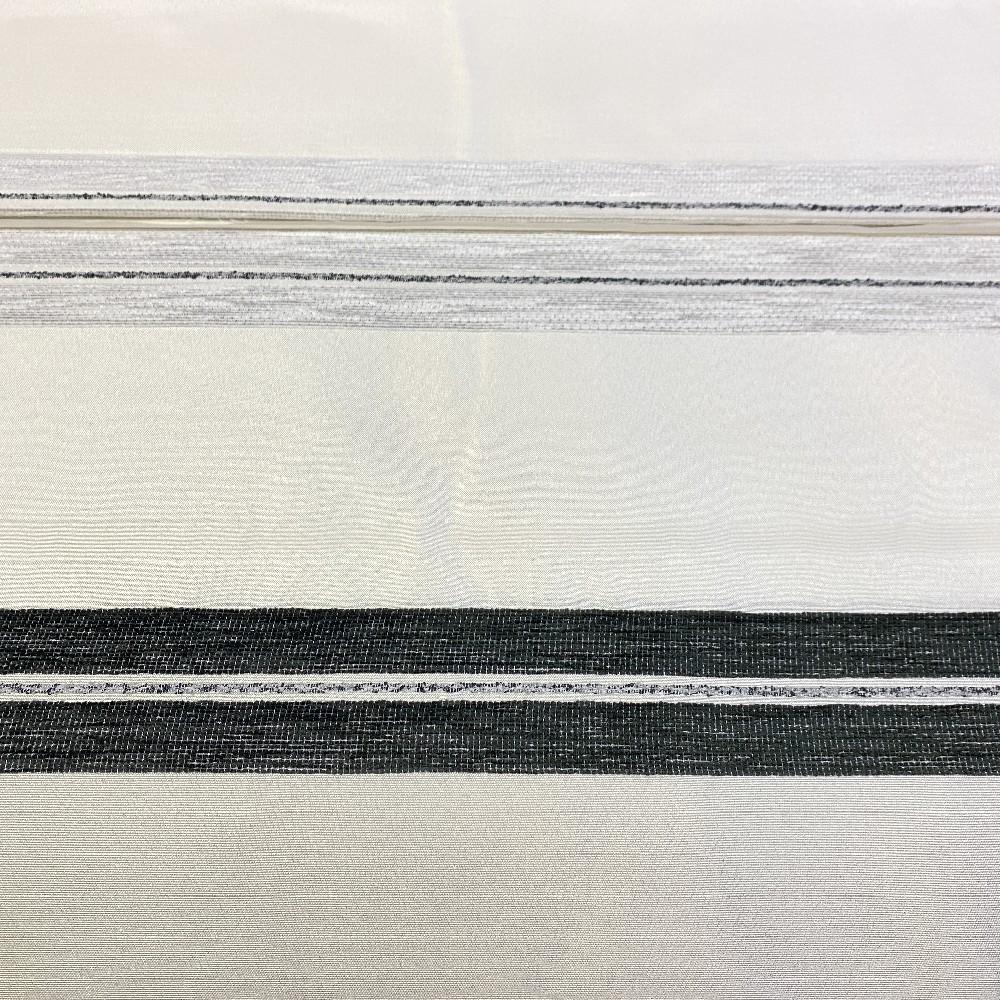 dekor.bílo čer.pruhy  140 cm