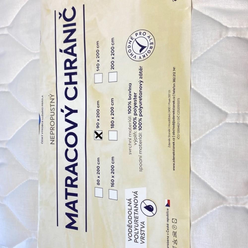 matracový chránič St.nepropustný  90x200