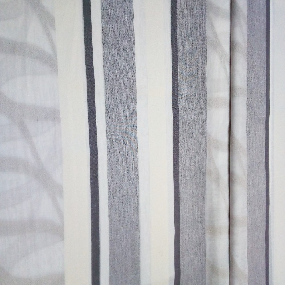 záclona 150cm pruhy šedé Maury05