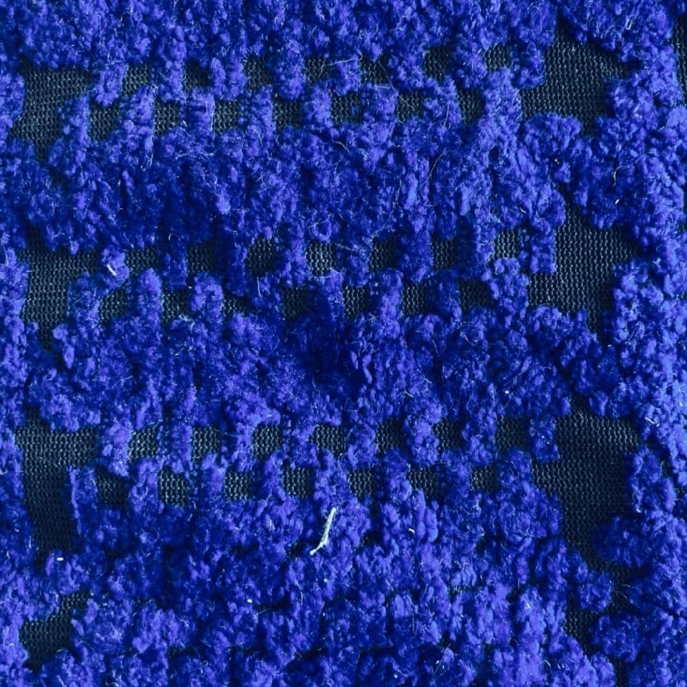 dekoračka úplet kostka modrá