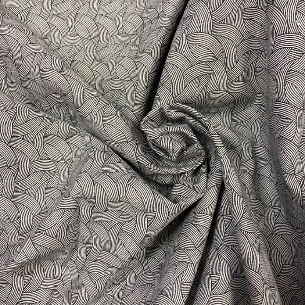 bavlna abstrskní vzor černo bílé  propleteniny 140 cm