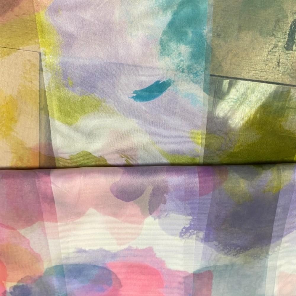 záclona UN 6702540/140  barevné květy