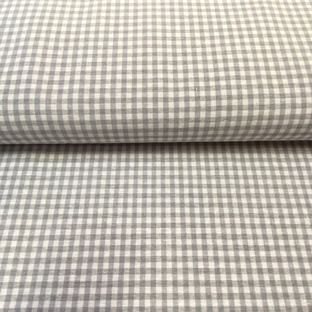 kanafas loneta šedivé kostičky 0,5x0,5cm 140cm