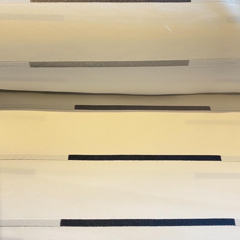 dekoračka Ho krémovo černé proužky 140 cm