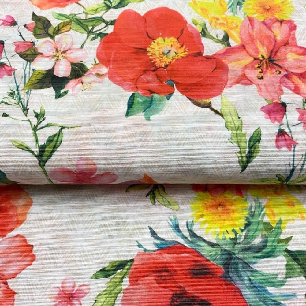 dekoračka barevné květy 140 cm