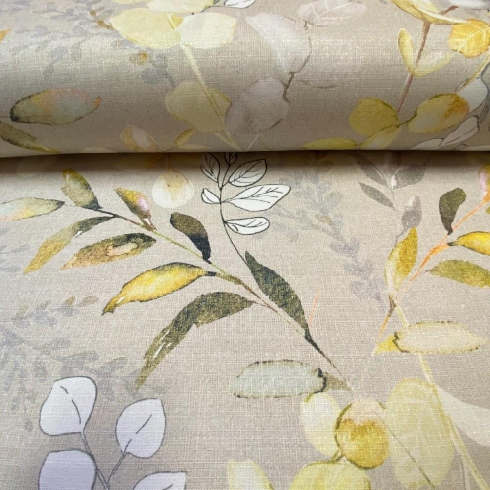 dekoračka béžovo-žluté květy 150cm pes