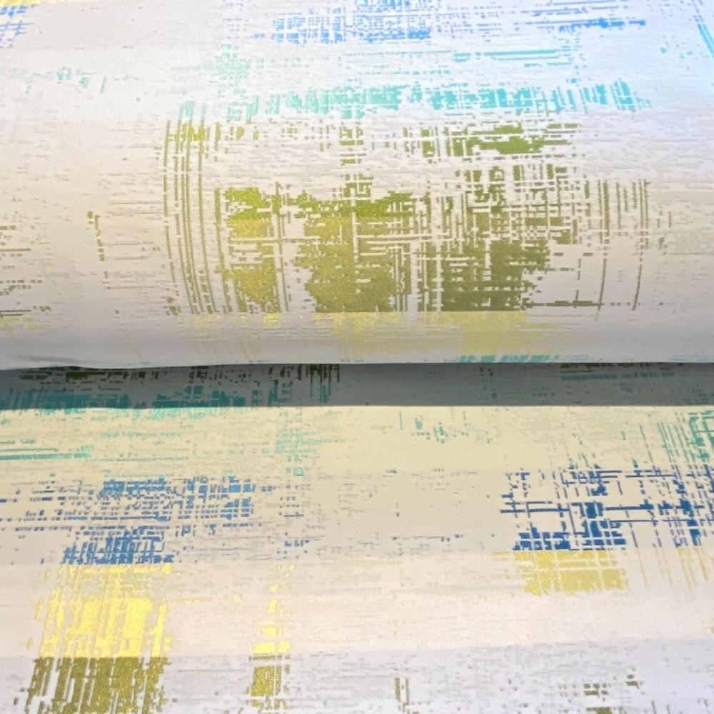 dekoračka Ho modro žlut.zelený abst.vzor  140 cm