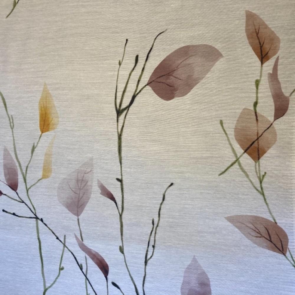 záclona Ho voál barevné listy 140 cm