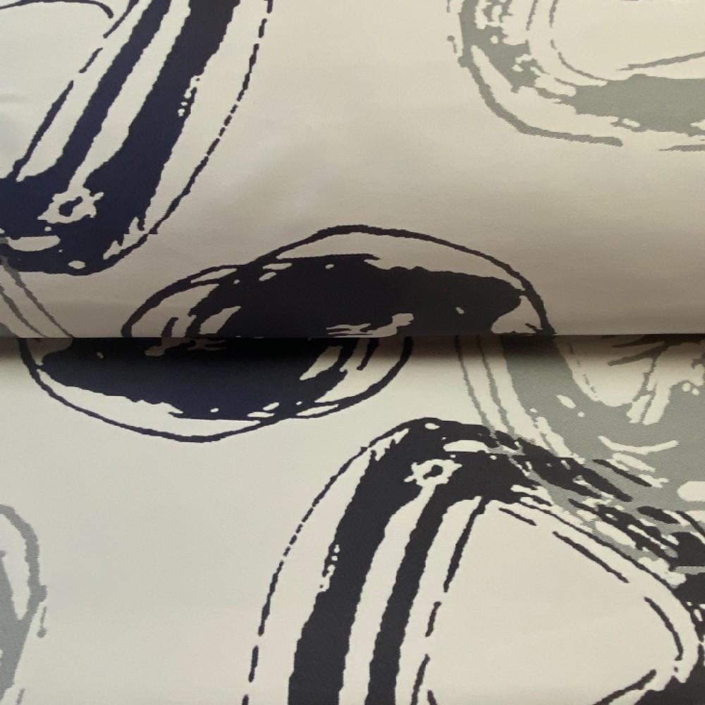 dekoračka Ho černo bílá kola 300 cm