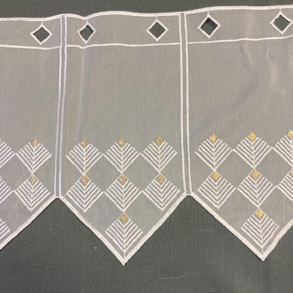 záclona Ve voál vitrážka v.30cm