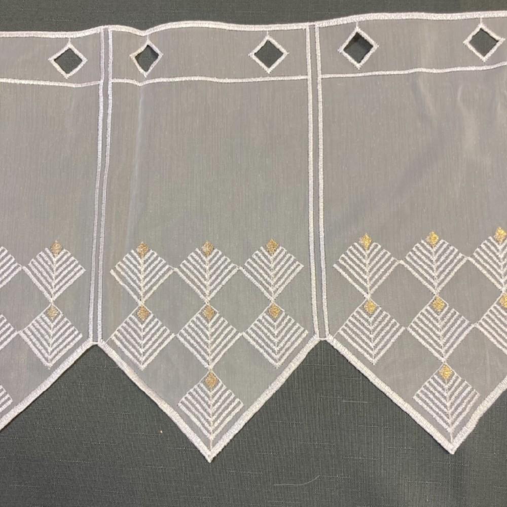 záclona Ve voál vitrážka v.45cm