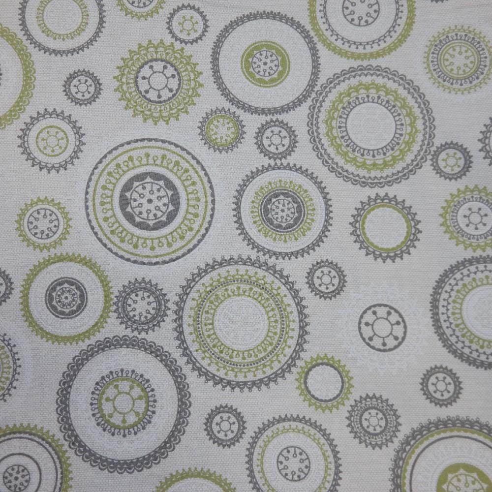 bavlna mandely zelené 140 cm